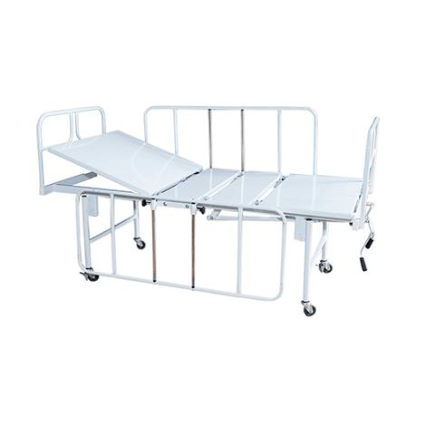 Cama Hospitalar Manual Duas Manivelas Standard Vista Lateral Direita