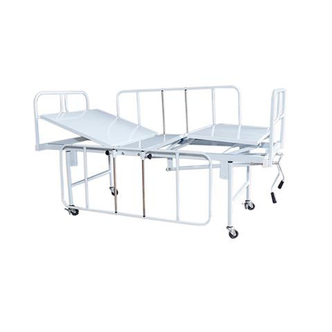 Cama Hospitalar Manual Duas Manivelas Standard Vista Lateral Esquerda