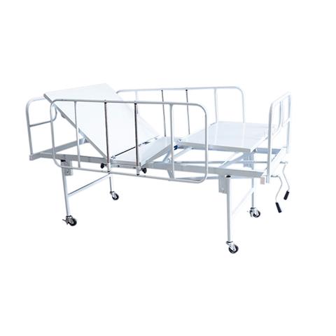 Cama Hospitalar Manual Duas Manivelas Standard Vista Diagonal
